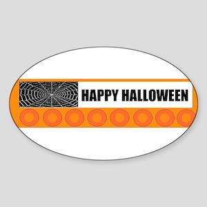 HAPPY HALLOWEEN Oval Sticker
