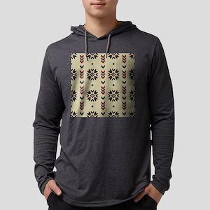 Native American Indian geometric Mens Hooded Shirt