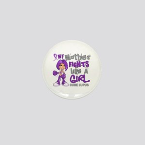 Fights Like a Girl 42.9 Lupus Mini Button