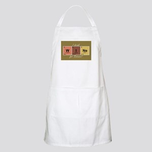 I drinlk WINe for Science! Apron