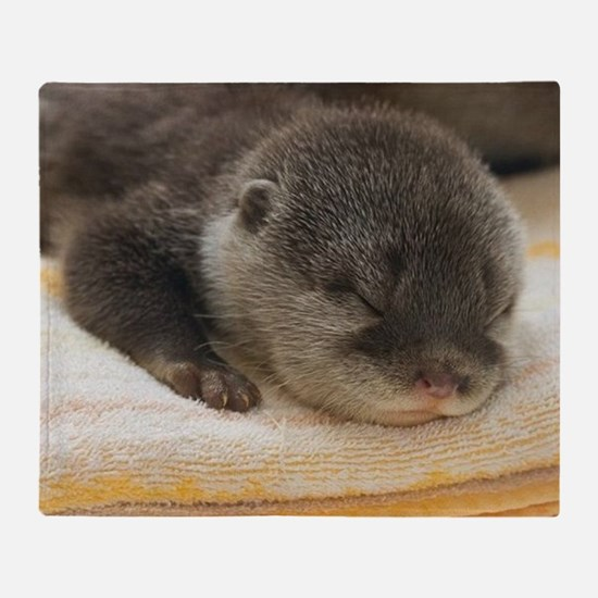 Sleeping Otter Throw Blanket