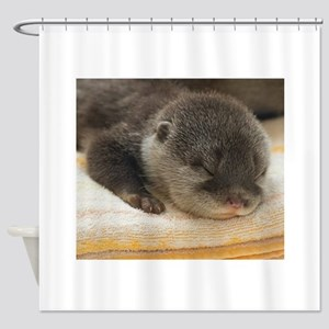 Sleeping Otter Shower Curtain