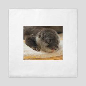 Sleeping Otter Queen Duvet