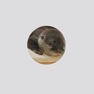 Sleeping Otter Mini Button