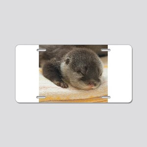 Sleeping Otter Aluminum License Plate