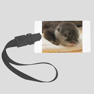 Sleeping Otter Large Luggage Tag
