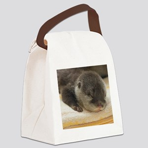 Sleeping Otter Canvas Lunch Bag