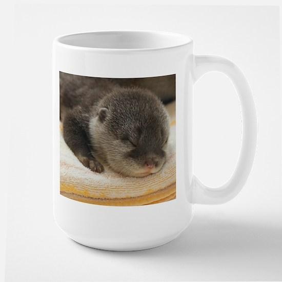 Sleeping Otter Large Mug