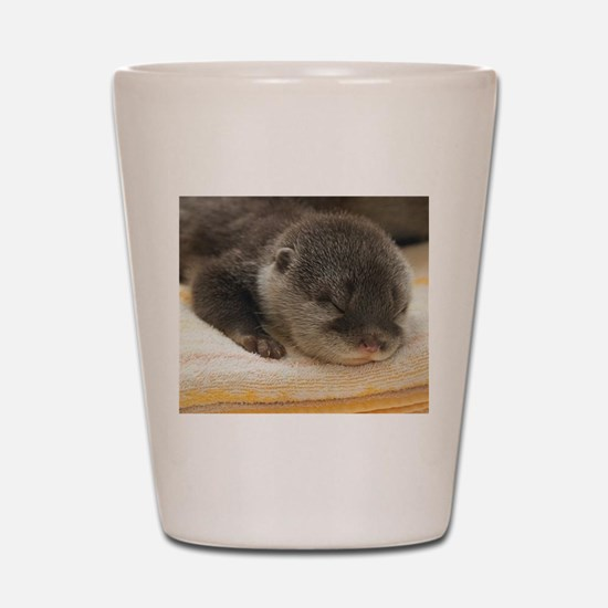 Sleeping Otter Shot Glass