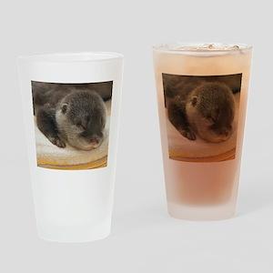 Sleeping Otter Drinking Glass