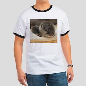 Sleeping Otter Ringer T