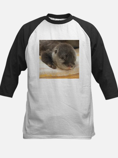 Sleeping Otter Kids Baseball Jersey
