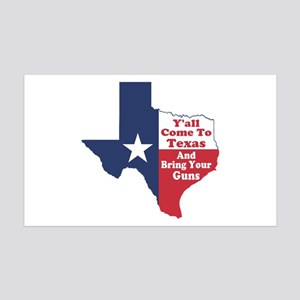 Yall Come to Texas 35x21 Wall Decal