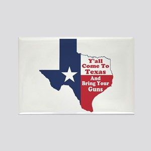 Yall Come to Texas Rectangle Magnet