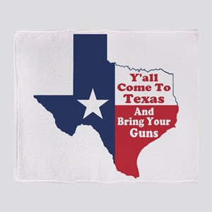 Yall Come to Texas Throw Blanket