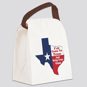 Yall Come to Texas Canvas Lunch Bag