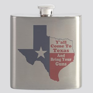 Yall Come to Texas Flask