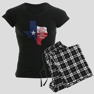 Yall Come to Texas Women's Dark Pajamas