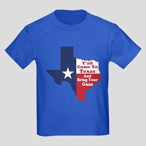 Yall Come to Texas Kids Dark T-Shirt