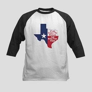 Yall Come to Texas Kids Baseball Jersey