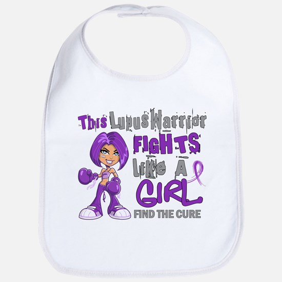 Licensed Fight Like a Girl 42.9 Lupus Bib