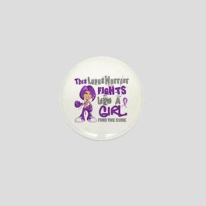 Licensed Fight Like a Girl 42.9 Lupus Mini Button