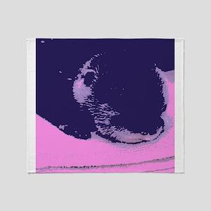Purple Otter Throw Blanket