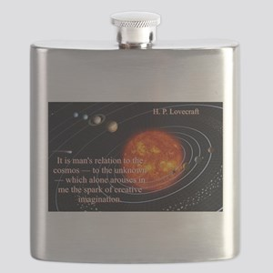 It Is Man's Relation - H P Lovecraft Flask