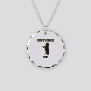 Rottweiler Dad Necklace Circle Charm