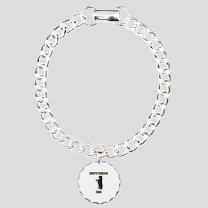 Rottweiler Dad Charm Bracelet, One Charm