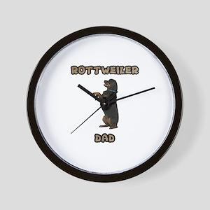 Rottweiler Dad Wall Clock