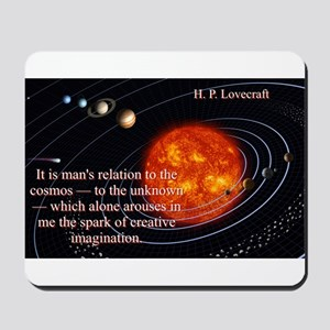 It Is Man's Relation - H P Lovecraft Mousepad