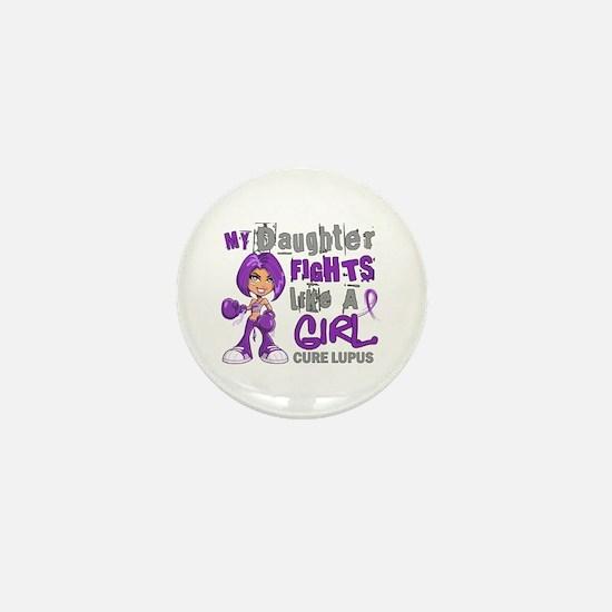 Fights Like a Girl 42.9 Lupus Mini Button