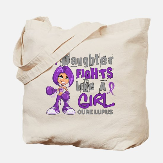 Fights Like a Girl 42.9 Lupus Tote Bag