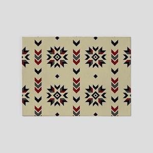 Native American Indian geometric de 5'x7'Area Rug