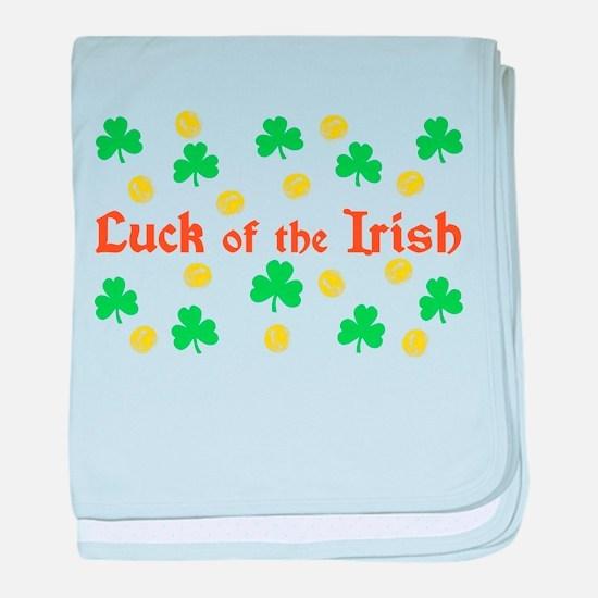 """""""Luck of the Irish"""" baby blanket"""
