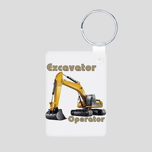 Excavator Aluminum Photo Keychain