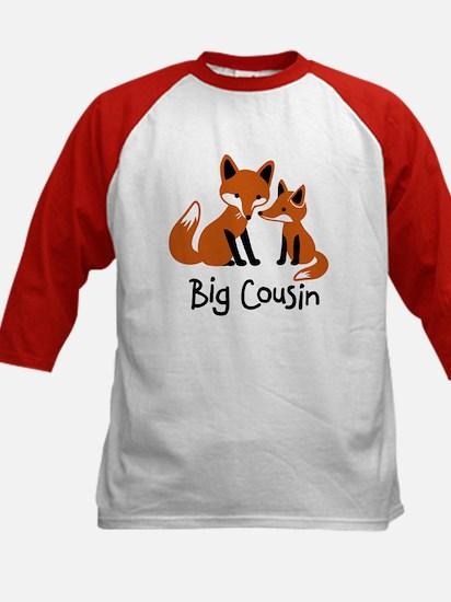 Big Cousin - Mod Fox Kids Baseball Jersey