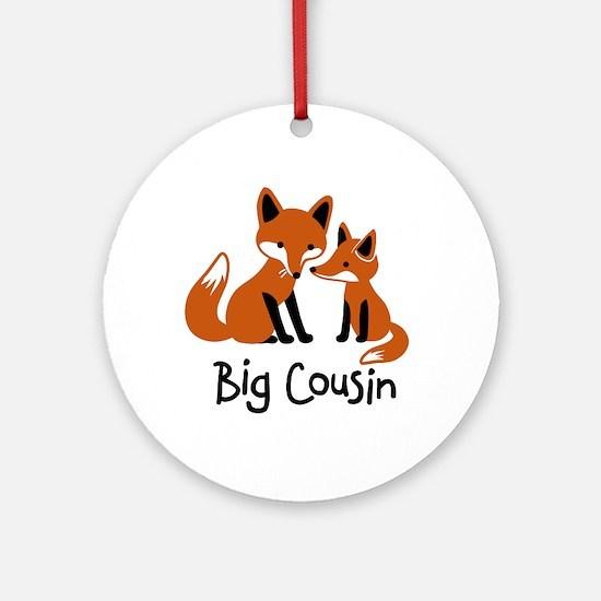 Big Cousin - Mod Fox Ornament (Round)