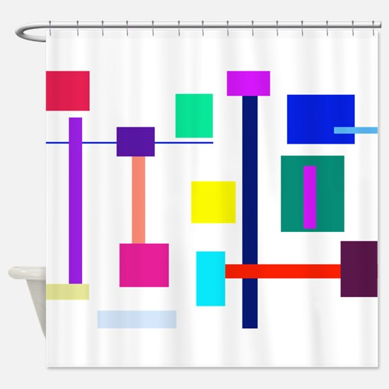 Colorful Squares Shower Curtain