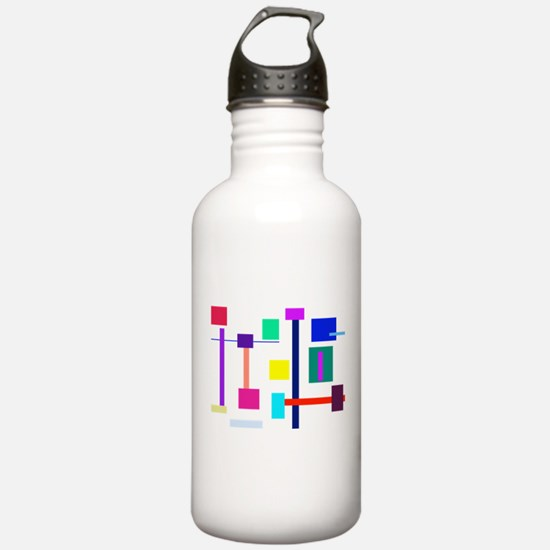 Colorful Squares Water Bottle