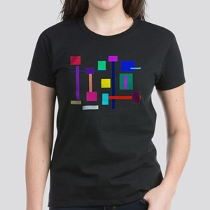 Colorful Squares Women's Dark T-Shirt