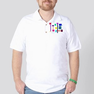 Colorful Squares Golf Shirt