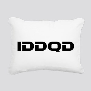 IDDQD Rectangular Canvas Pillow