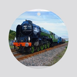 Flying Scotsman - Steam Train Ornament (Round)