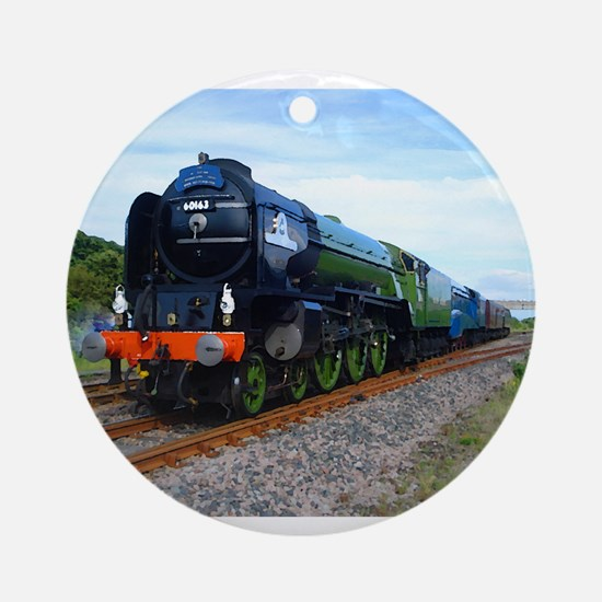 Flying Scotsman - Steam Train.jpg Ornament (Round)