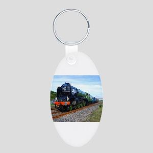 Flying Scotsman - Steam Train Aluminum Oval Ke