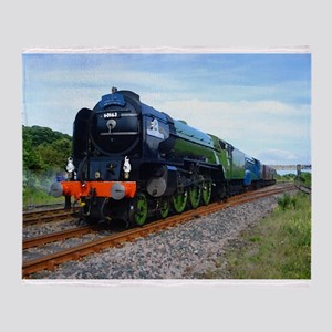 Flying Scotsman - Steam Train Throw Blanket