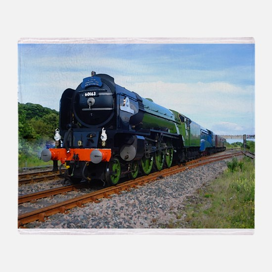Flying Scotsman - Steam Train.jpg Throw Blanket