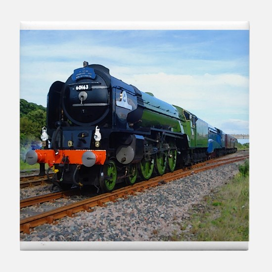 Flying Scotsman - Steam Train.jpg Tile Coaster